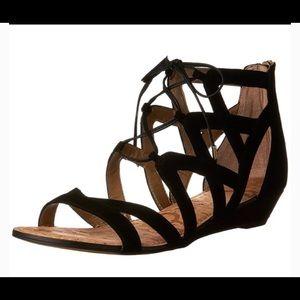 Sam Edelman Dawson Black Suede Sandals Size 7